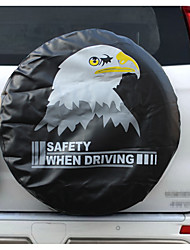 cheap -PVC Leather Spare Tire Cover Wheel Tire Cover black with eagle logo universal for Jeep CR-V RV SUV trailer truck R14-R15-R16-R17