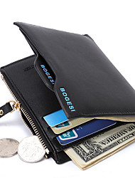cheap -Men Bags PU Money Clip for Shopping Daily Casual All Seasons Black Dark Blue Dark Coffee