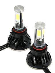 KKmoon One Pair of 40W 4000LM 9006 COB LED Light Headlight Fog Light 12V 24V Car Upgrade Conversion Bulb Beam Kit 6000K White