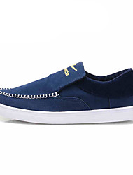 Men's Sneakers Light Soles Spring Fall Canvas Casual Navy Blue Light Brown Dark Brown 1in-1 3/4in