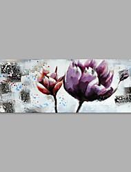 economico -Dipinta a mano Floreale/Botanical Orizzontale,Artistico Un Pannello Tela Hang-Dipinto ad olio For Decorazioni per la casa