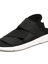 cheap -Men's Shoes Rubber Summer Comfort Sandals for Outdoor Black Black/White