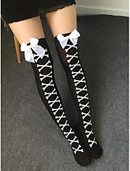 cheap -Women's Thin Stockings, Polyester 1pc Black