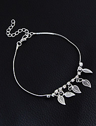 cheap -Women's Girls' Anklet/Bracelet Alloy Fashion Vintage Bohemian Punk Handmade Gothic Leaf Jewelry For Wedding Party Training New Baby