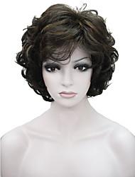 economico -Parrucche sintetiche Ondulato Capelli sintetici Marrone Parrucca Per donna Corto Senza tappo