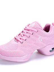 "cheap -Women's Dance Sneakers Tulle Sneakers Outdoor Trims Flat Heel Blushing Pink Black White 1"" - 1 3/4"" Customizable"