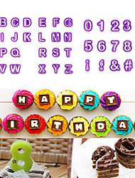40pcs/lot Alphabet Capital Letters Number Symbols Shape Alphanumeric Symbols Biscuit Mold Cake Cookies Font Seal Plastic Mold