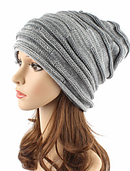 cheap -Unisex Acrylic Beanie Floppy Hat Headwear Cute Casual Chic & Modern Daily Knitwear Solid Fall Winter Pure Color Cap Khaki/Wine/Black/Grey