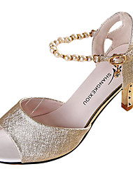 Da donna Sandali PU (Poliuretano) Estate Footing Perle A stiletto Oro Bianco Rosa 7,5 - 9,5 cm