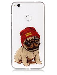 economico -Custodia per huawei p8 lite (2017) p10 lite telefono tpu materiale imd processo cane modello hd flash custodia telefono polvere p9 lite p8