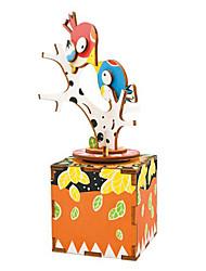 Недорогие -Деревянные пазлы Птица Мультяшная тематика Своими руками Натуральное дерево Мальчики Подарок