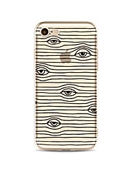 cheap -Case For Apple iPhone X iPhone 8 Plus Transparent Pattern Back Cover Lines / Waves Cartoon Soft TPU for iPhone X iPhone 8 Plus iPhone 8