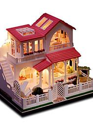 preiswerte -Modellbausätze Spielzeuge Heimwerken Haus Naturholz Klassisch Stücke Unisex Geburtstag Geschenk