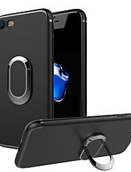 Недорогие -Кейс для Назначение Apple iPhone 7 / iPhone 7 Plus Кольца-держатели Кейс на заднюю панель Однотонный Мягкий ТПУ для iPhone 7 Plus / iPhone 7 / iPhone 6s Plus
