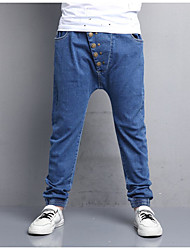 cheap -Boys' Solid Jeans,Cotton Polyester Fall Light Blue