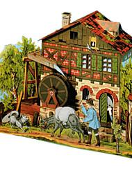 Недорогие -3D пазлы Оригами Знаменитое здание Своими руками Плотная бумага Классика Детские Универсальные Подарок