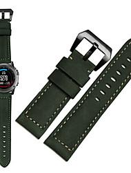 Недорогие -Ремешок для часов для Fenix 5x / Fenix 3 Garmin Спортивный ремешок Натуральная кожа Повязка на запястье