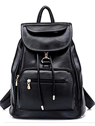 Women Bags All Seasons PU Canvas Shoulder Bag for Casual Outdoor Black