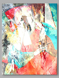 cheap -Oil Painting Hand Painted - Abstract Abstract Modern / Contemporary Canvas