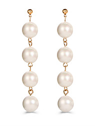 cheap -Women's Ball Imitation Pearl Imitation Pearl Drop Earrings - Pendant / Vintage / Circle As Picture Round / Circle Earrings For Wedding /