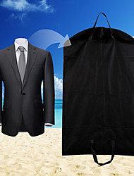 1Pc  Black Dustproof Hanger Coat Clothes Garment Suit Cover Storage Bags Clothes Storage