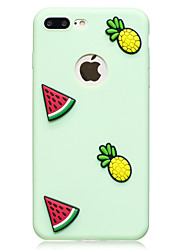 economico -Custodia Per Apple iPhone 7 Plus iPhone 7 Fantasia/disegno Fai da te Per retro Frutta Morbido TPU per iPhone 7 Plus iPhone 7 iPhone 6s