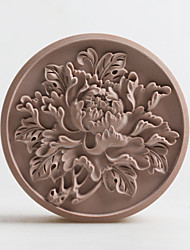 cheap -Peony Soap Mold DIY Silicone Soap Candle Mold Handmade Soap Salt Carved DIY Silicone Food Grade Silicone Mold