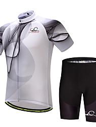 Недорогие -Муж. С короткими рукавами Велокофты и велошорты Велоспорт Наборы одежды Полиэстер, Лайкра Изгибы