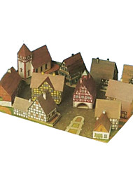 cheap -3D Puzzles Paper Craft Square 3D DIY Hard Card Paper Unisex Gift