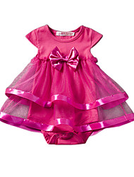 cheap -Baby Solid Color Blouse-Acrylic Polyester-Summer-