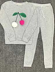 Felpa con cappuccio Pantalone Completi abbigliamento Da donna Sport Per eventi Per uscire Casual Semplice Moda città Autunno Inverno,Con