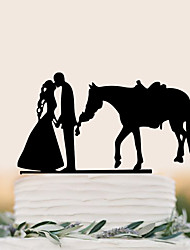 cheap -Cake Topper Wedding Birthday High Quality Plastic Wedding Party/Evening With PVC Bag
