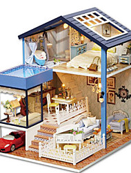 cheap -CUTE ROOM Model Building Kit Toys DIY House Plastics Classic Pieces Unisex Birthday Gift