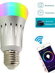 7W E27 LED Smart Bulbs Works with Amazon Alexa A60 22 SMD 2835 600 lm RGB White 3000/6000/5000 K WIFI AC85-265V
