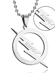 cheap -Sales of high-quality titanium jewelry necklace lightning European and American TV Flash Necklace