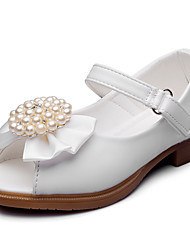 Girls' Sandals Comfort Leatherette Summer Fall Wedding Party & Evening Dress Comfort Bowknot Applique Imitation Pearl Magic Tape Low Heel