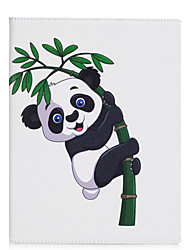 cheap -Case For IPad 2 3 4 Air Air 2 Pro 9.7'' Case Cover Giant Panda Pattern PU Material Three Fold Flat Computer Shell Phone Case
