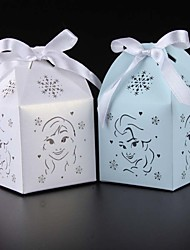 cheap -50pcs Elsa and Anna Baby Shower Gift Box kids birthday party decoration