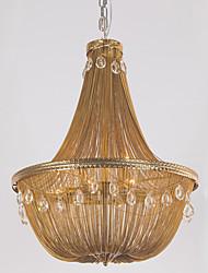 Lámparas de aluminio lámpara colgante retro e12 / e14 / luces colgantes de diseño / latón antiguo / sala de estar / inoxidable