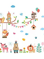Animali Botanica Moda Adesivi murali Adesivi aereo da parete Adesivi decorativi da parete Adesivi misura altezza MaterialeDecorazioni per