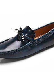 cheap -Unisex Shoes Nappa Leather Summer Fall Moccasin Boat Shoes for Casual Party & Evening Dark Blue Light Brown Burgundy