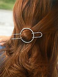 preiswerte -Europa und die Vereinigten Staaten Außenhandel Mode Joker Haare Zubehör einfach geometrischen Haar Kreis halben Arm Typ Kupfer Haar a0192