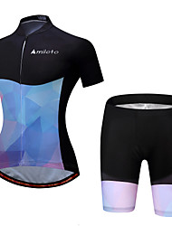 cheap -Miloto Cycling Jersey with Shorts Women's Short Sleeves Bike Padded Shorts/Chamois Clothing Suits Cycling Polyester Spandex Spring/Fall