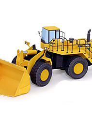 cheap -3D Puzzles Paper Model Backhoe Loader Dozer Toys Square 3D DIY Hard Card Paper Not Specified Pieces