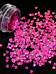 cheap -1g/Bottle New Fashion Sweet Style Charm Pink 3D Decoration Nail Art Starry Glitter Lovely Heart Shape Sequins Shining DIY Beauty Paillette 1206W
