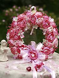 Camellia Door Wreath Christmas Decorations Home Wedding 25cm Diameter Garlands