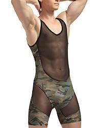 abordables -Homme Sexy Push-up Voiles & Transparence Sous-vêtements Longs