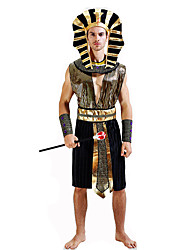 cheap -Roman Costumes Egyptian Costume Pharaoh Cosplay Costume Party Costume Masquerade Men's Festival / Holiday Halloween Costumes Black Others