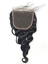 Chiusura libera del merletto della chiusura del merletto della chiusura del merletto dell'onda 5x5inch allentata con i capelli del bambino