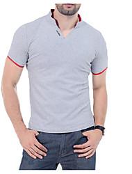 levne -Pánské - Jednobarevné Čínské vzory Tričko Bavlna